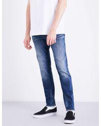 True Religion - Blue Jack Slim-fit Tapered Jeans for Men - Lyst