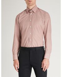Eton of Sweden - Pink Baroque Floral-print Cotton Shirt for Men - Lyst