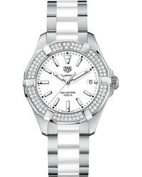 Tag Heuer - Metallic Way131f.ba0914 Aquaracer Watch - Lyst