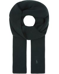 Polo Ralph Lauren - Green Pony Knitted Wool Scarf for Men - Lyst
