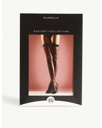 Bluebella - Black Solid Top Stockings - Lyst