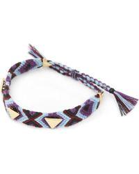 Rebecca Minkoff - Purple Ladies Black Luxury Triangular Stud Friendship Bracelet - Lyst