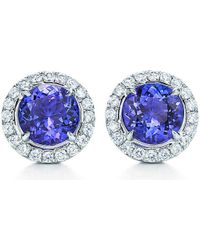 Tiffany & Co - Blue Tiffany Soleste Earrings In Platinum With Tanzanites And Diamonds - Lyst