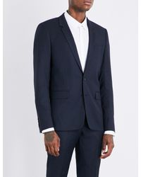 Sandro - Blue Birdseye Wool Blazer for Men - Lyst