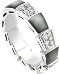 BVLGARI - Metallic Serpenti 18kt White-gold And Diamond Ring - Lyst