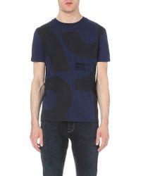 Armani Jeans | Blue 1981 Logo-print Cotton-jersey T-shirt for Men | Lyst