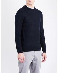 Armani Jeans - Blue Striped Wool-blend Jumper for Men - Lyst