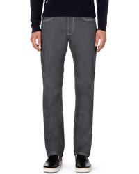 Armani Jeans - Black J21 Regular-fit Straight Jeans L32 for Men - Lyst