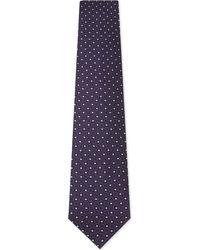 Ermenegildo Zegna | Mens Purple Floral Classic Medallion Silk Tie for Men | Lyst