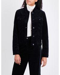 J Brand   Black Faye Velvet Jacket   Lyst