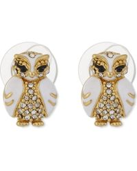 Kate Spade - White Star Bright Owl Stud Earrings - Lyst