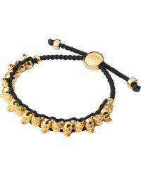 Links of London - Metallic Yellow Gold Skull Friendship Bracelet - Lyst