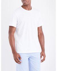 Lyst - Polo Ralph Lauren Mens White Embroidered Logo Retro Logo ... 88aec16d4