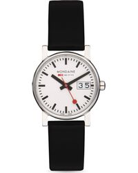 Mondaine - Black A6693030511sbb Unisex Evo Big-date Watch - Lyst