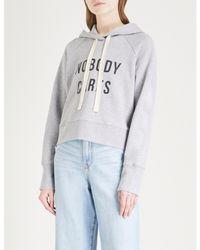 Nobody Denim - Gray 'nobody Cares' Cotton-jersey Hoody - Lyst