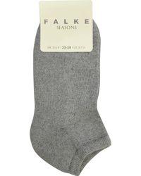 Falke | Gray Cosy Trainer Socks | Lyst