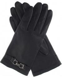 Dents - Black Hardware-detail Leather Gloves for Men - Lyst