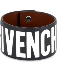 Givenchy - Black Ladies Luxurious Logo Leather Bracelet - Lyst