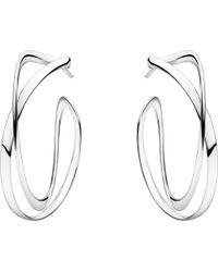 Georg Jensen - Metallic Infinity Sterling Silver Earrings - Lyst