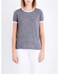 Wildfox - Blue Johnny Ringer Jersey T-shirt - Lyst