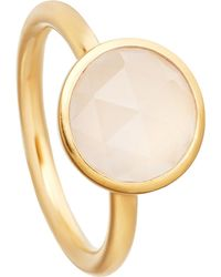 Astley Clarke | Metallic Stilla 18ct Yellow-gold Plated Moonstone Ring | Lyst