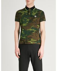 602d66176556 Lyst - Moncler Camouflage Pattern Cotton-piqué Polo Shirt in Green ...