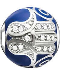 Thomas Sabo - Metallic Karma Beads Fatima's Hand Sterling Silver Bead - Lyst