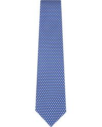 Ferragamo - Blue Coffee Bean Silk Tie for Men - Lyst