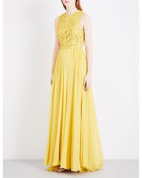 Elie Saab | Yellow Sequin-embellished Silk Gown | Lyst