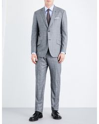 Richard James   Gray Prince Of Wales Check Regular-fit Wool Suit for Men   Lyst