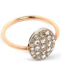 Annina Vogel - Metallic 9ct Rose-gold And Rose-cut Diamond Disc Cluster Ring - Lyst