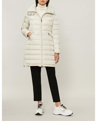 697c5209f Moncler Flammette Quilted Shell-down Coat in Natural - Lyst