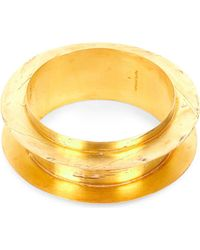 Parts Of 4 - Metallic Acid-wash Gold-plated Bangle - Lyst