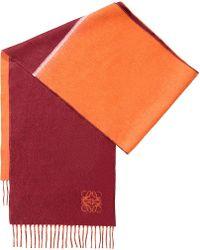 Loewe | Orange Window Two-tone Wool And Angora-blend Scarf | Lyst