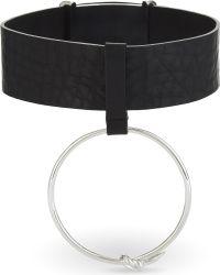 Ambush - Black Ring Leather Choker - Lyst