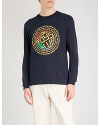 BBCICECREAM - Blue Logo-print Cotton-jersey Top for Men - Lyst