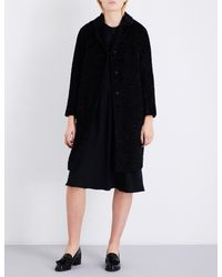 Max Mara - Black Lessy Faux-fur Coat - Lyst