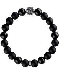 Thomas Sabo | Black Rebel At Heart Sterling Silver Bracelet | Lyst