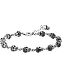 Thomas Sabo | Metallic Rebel At Heart Zirconia And Sterling Silver Bracelet | Lyst
