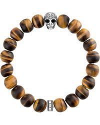 Thomas Sabo - Multicolor Rebel At Heart Skull Beaded Bracelet for Men - Lyst
