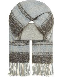 Free People | White Tartan Scarf | Lyst