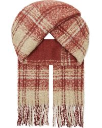 Free People | Red Tartan Scarf | Lyst