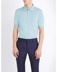 John Smedley - Blue Adrian Cotton Polo Shirt for Men - Lyst