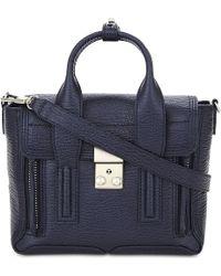 3.1 Phillip Lim | Blue Petite Mini Pashli Leather Satchel | Lyst