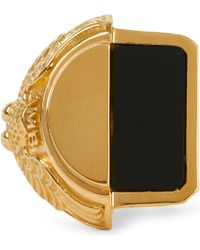 Ambush - Metallic Misfit College Sterling Silver And Onyx Ring - Lyst