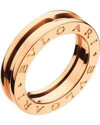 BVLGARI | Metallic B.zero1 One-band 18kt Pink-gold Ring | Lyst