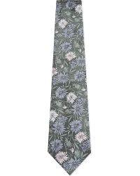 Paul Smith - Gray Floral Pattern Silk Tie for Men - Lyst