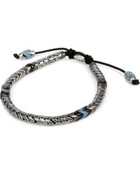 M. Cohen | Blue African Glass And Sterling Silver Bracelet for Men | Lyst
