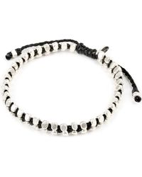 M. Cohen - Black Vertebrae Silver Bracelet for Men - Lyst