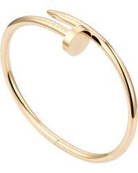 Cartier   Metallic Juste Un Clou 18ct Yellow-gold Bracelet   Lyst